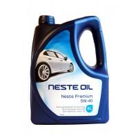 Моторное масло NESTE Premium 5W-40 полусинтетическое, 4 л
