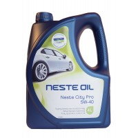 Моторное масло NESTE City Pro 5W-40 синтетическое, 4 л